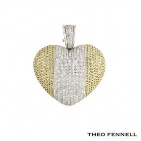 Theo Fennell 18k White Gold Diamond and Citrine Pendant 4.97ct